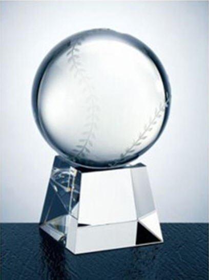 Crystal Baseball With Base