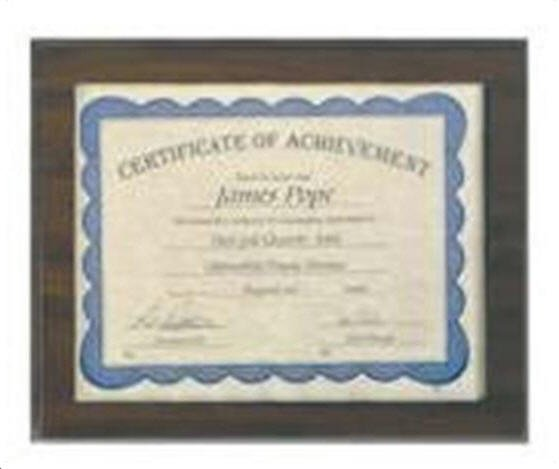 Certificate Holder Plaque
