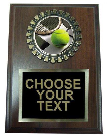 Tennis Award Plaque