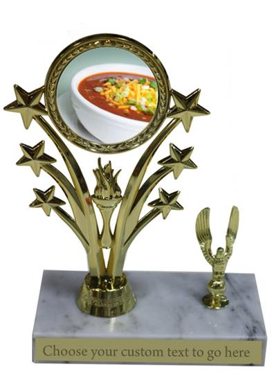 Chili Bowl Cook Off Marble Base Star Trophy