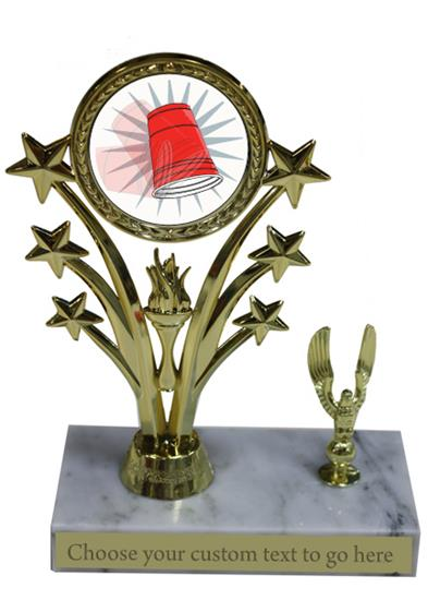Flip Cup Marble Base Star Trophy