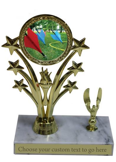 Lawn Dart Marble Base Star Trophy