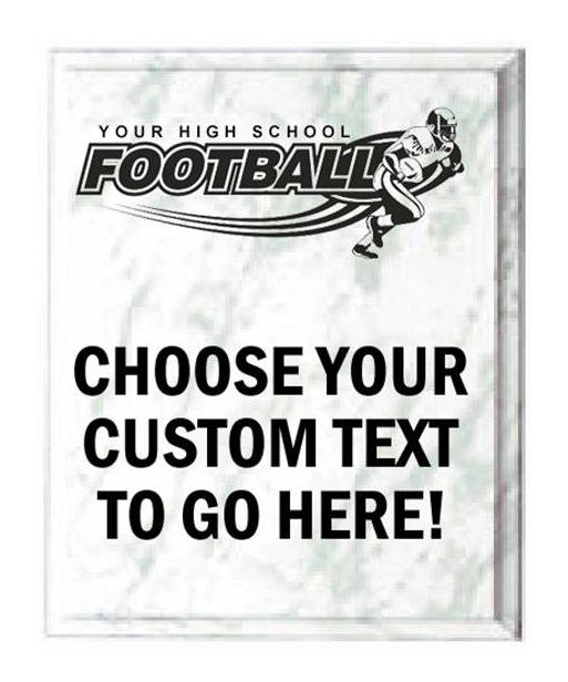 Football White Marble Plaque