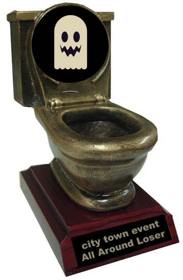 Worst Costume Toilet Trophy