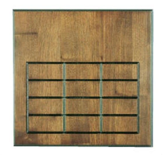 Walnut 12 Plate Perpetual Plaque