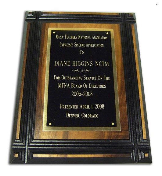 Walnut Grooved Face Plaque