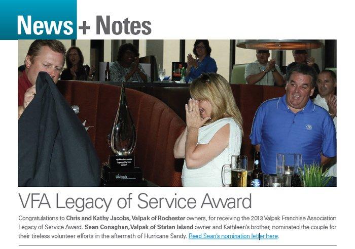 Valpak Service Award