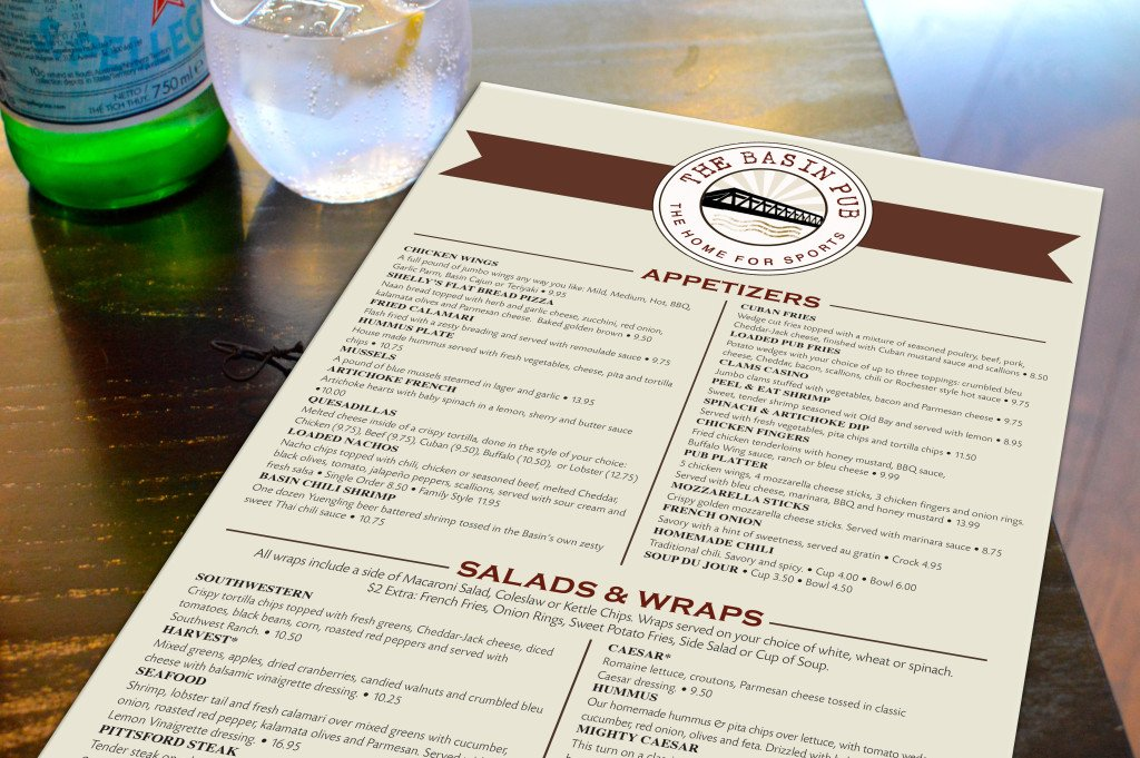 Graphic menu design
