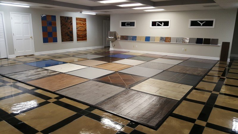 Our epoxy flooring showroom in Syracuse NY