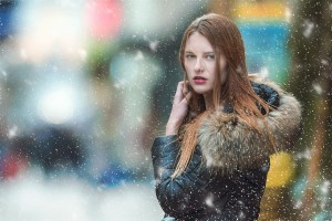 snow and skin