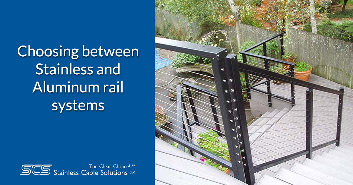 Choosing Between Stainless and Aluminum Rail Systems