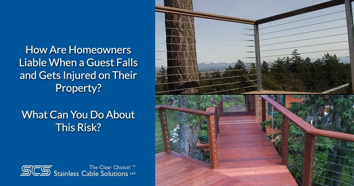 How Are Homeowners Liable When a Guest Falls and Gets Injured on Their Property?