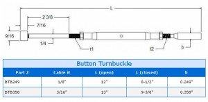 Button Turnbuckle Assembly Specs