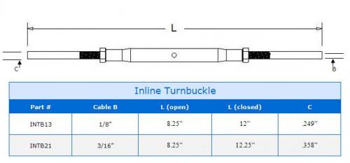 Internal Turnbuckle Product Specs