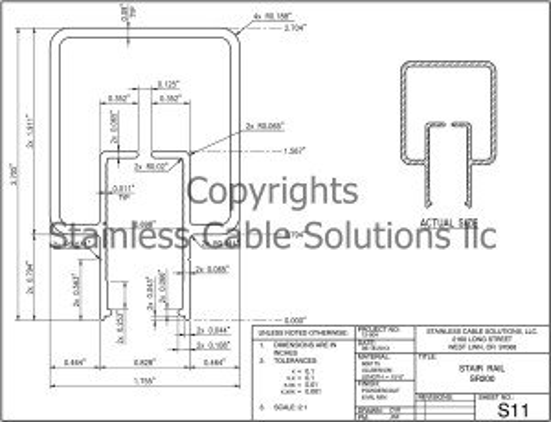 SR200 Aluminum Stair Rail Specs