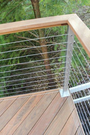 Stainless Railing Termination Post in Use