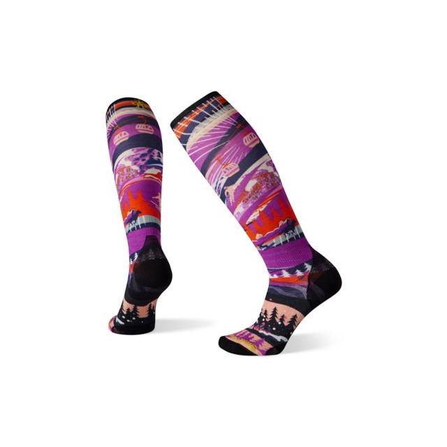 Women's Ski Zero Cushion Skication Print OTC Socks