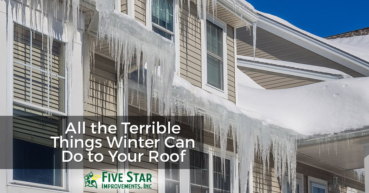 Winter Roof Damage Repairs Rochester