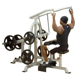 Body Solid Leverage Plate Loaded Lat Pulldown - New