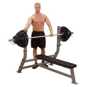 Body Solid Pro Clubline Flat Olympic Bench - New