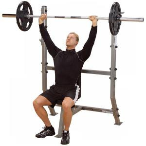 Body Solid Pro Clubline Shoulder Press Olympic Bench - New