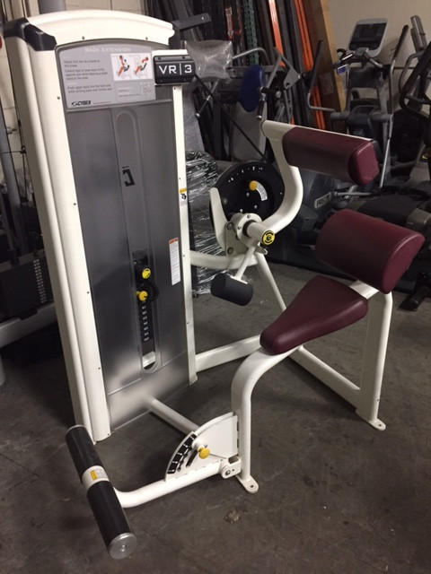 Cybex VR3 Back Extension Cleaned and Serviced