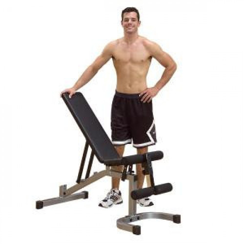 Body Solid Powerline Flat/Incline/Decline Bench w/ Leg Hold Down - New