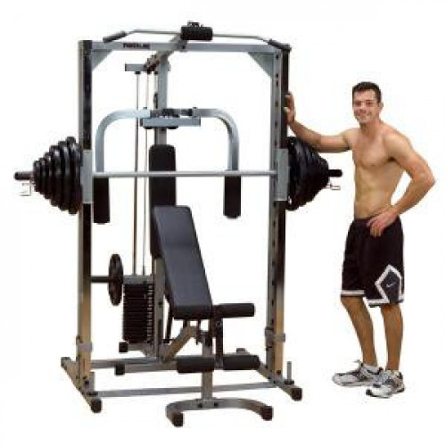 Body Solid Powerline Plate Loaded Smith Gym System - New