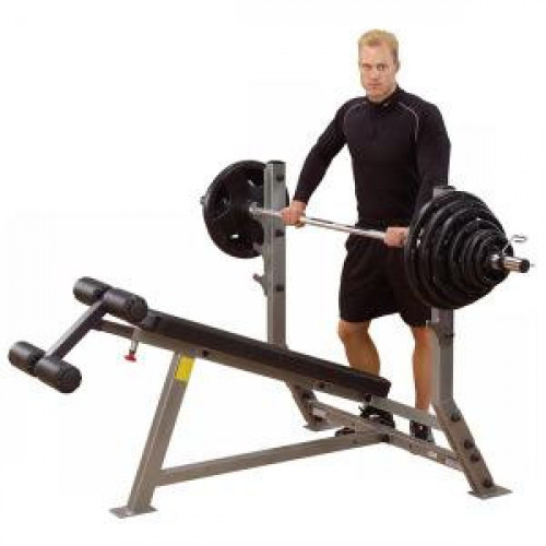 Body Solid Pro Clubline Decline Olympic Bench - New