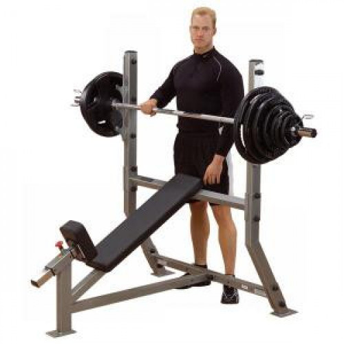 Body Solid Pro Clubline Incline Olympic Bench - New