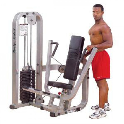 Body Solid Selectorized Pro Clubline Chest Press Machine 210 lbs Stack - New