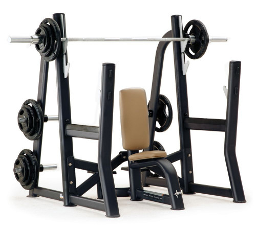 NEW! PULSE FITNESS Olympic Vertical Bench Press w/ Disc Storage - CALL US FOR SPECIAL PRICING