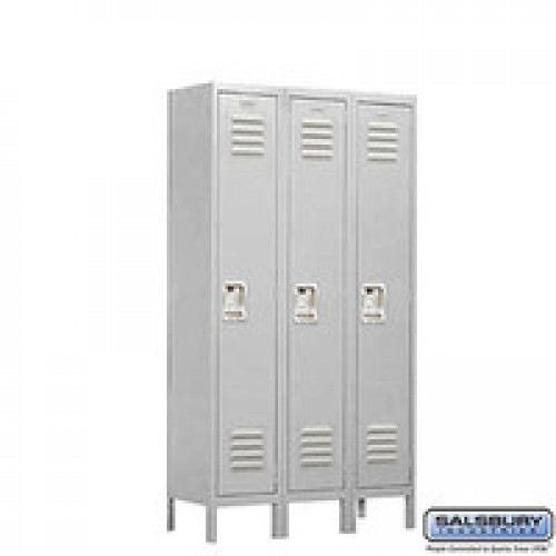 "Single Tier 3 Wide Standard Locker 15"" Depth"