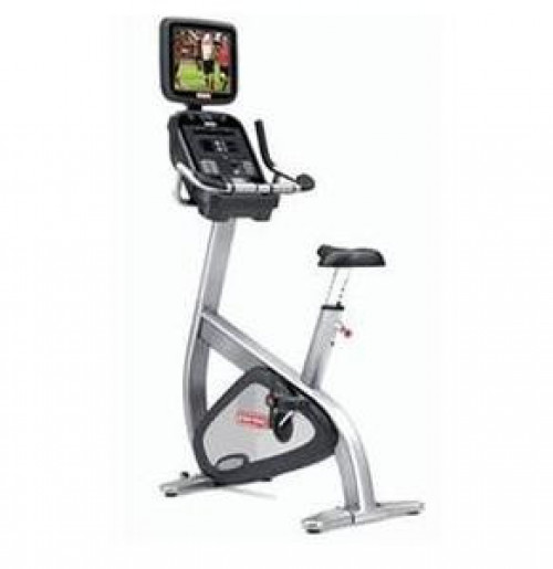 Star Trac Pro S Series Upright Bike w/ TV, remanufactured