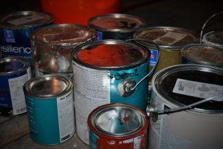 Exterior paint cans