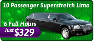 10 Passenger St. Patricks Day Limo Special