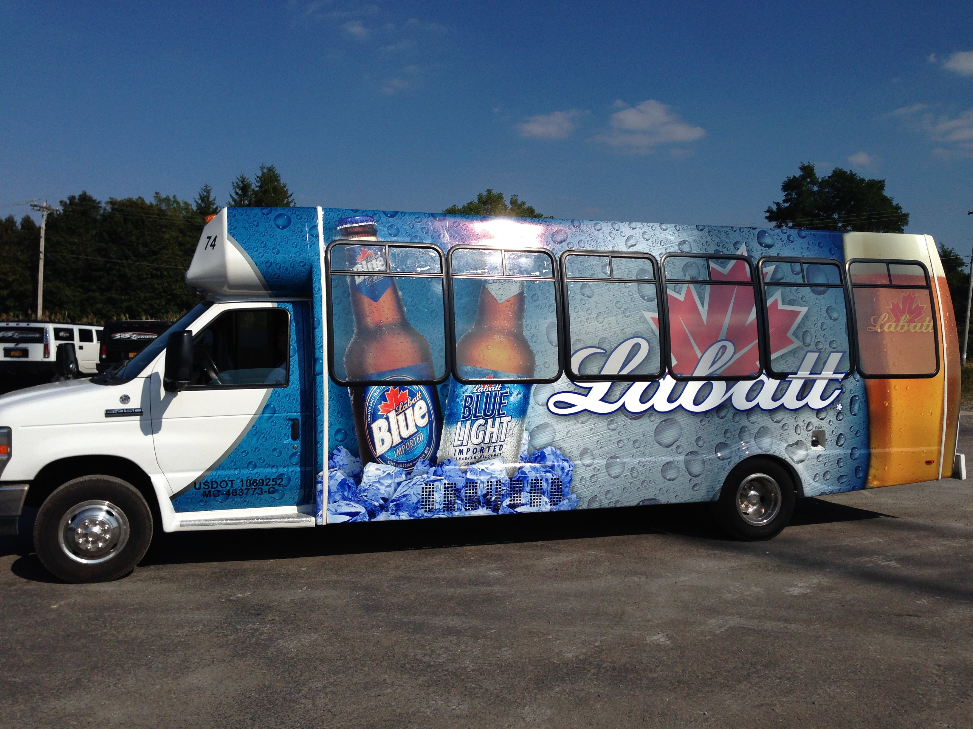 Get a Quote for a Labatt Blue Limo Bus