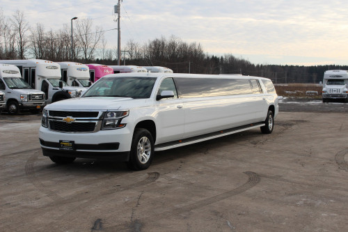 Chevy Tahoe Limo exterior