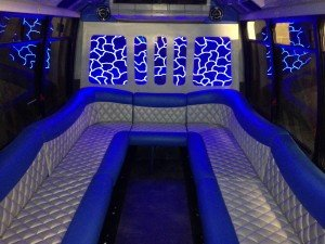 Labatt Blue Limo Bus interior
