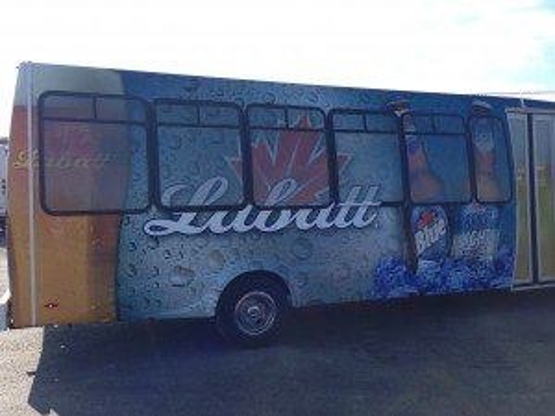 Labatt Blue Limo Bus exterior
