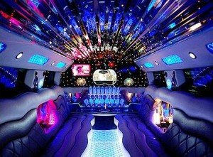 cool limo interior