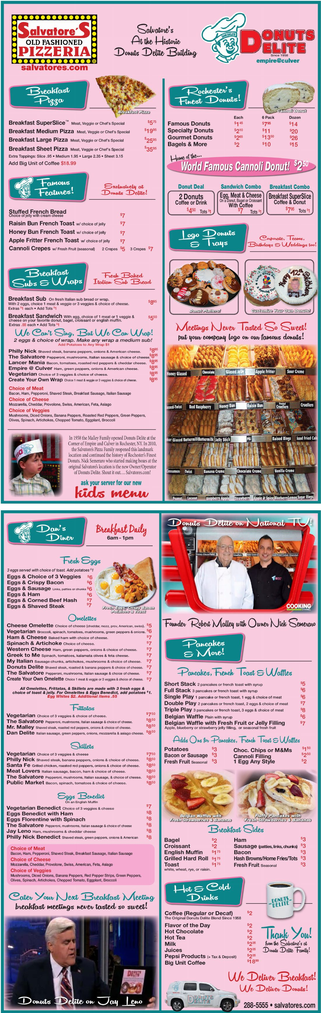 Donuts Delite Breakfast Menu
