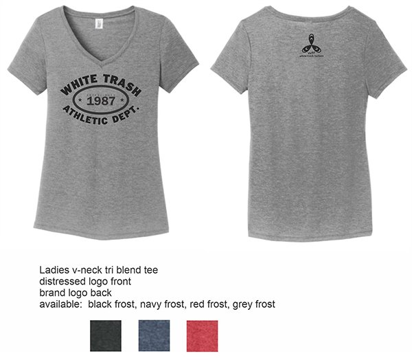 WTF Ladies V Neck Tee