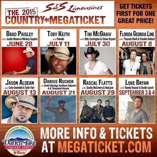 2015 Country Megaticket, Darien Lake NY