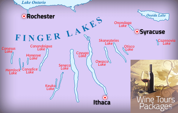 Finger Lakes Wine Tour Map