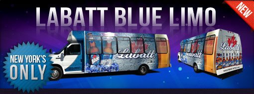 Labatt Blue Limo Bus