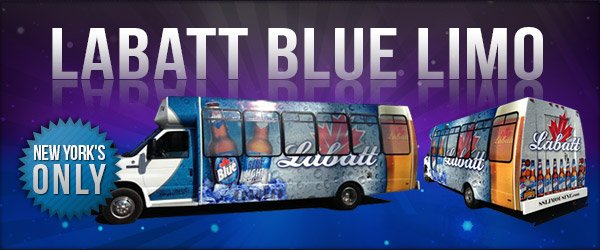 New Labatt Blue Limo Bus!