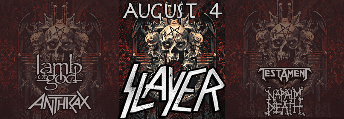 2018 Slayer With Lamb of God, Anthrax, Testament, Napalm Death Concert