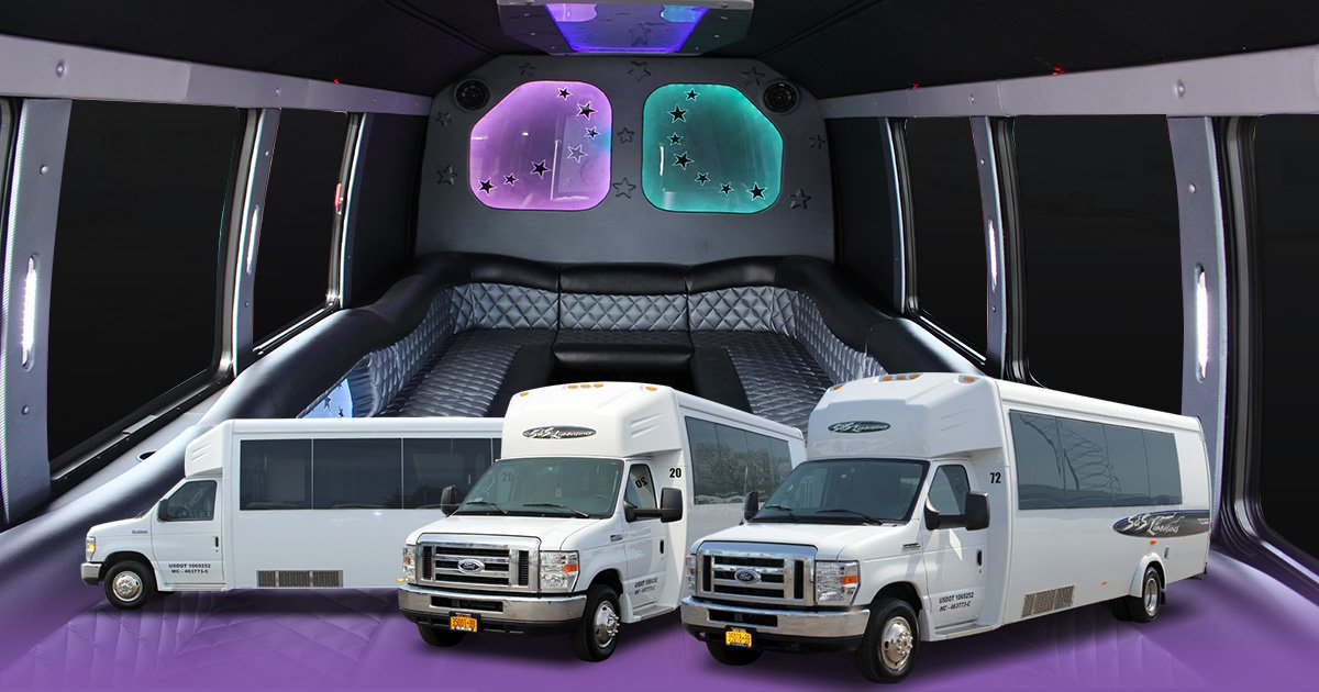 Level 2 Limo Bus Seating up to 24 People in Rochester, Syracuse & Buffalo NY
