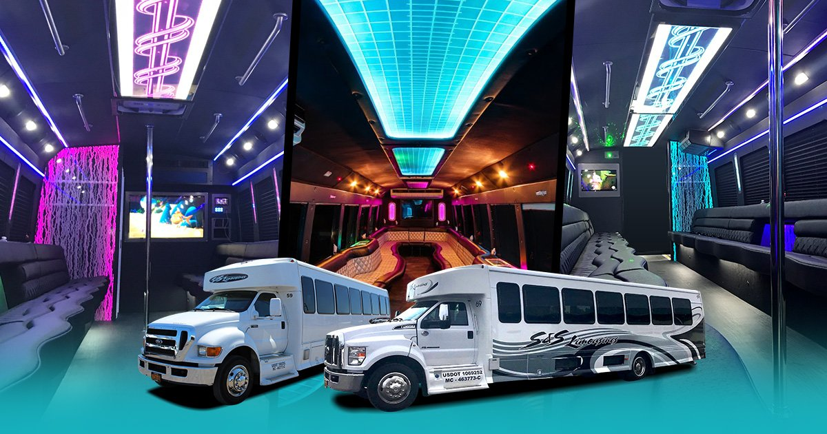 Level 4 Limo Bus Seating up to 41 people Rochester, Syracuse & Buffalo NY